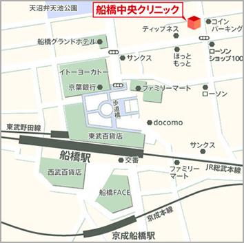 船橋中央&青山セレスクリニックの地図
